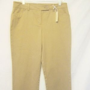 JONES NEW YORK Cropped Ankle Style Pants Sand 10